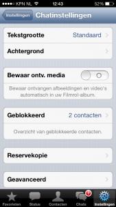 tekstgrootte in whatsapp instellen