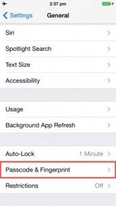 iphone 5s touch id vingerafdruk toevoegen